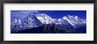 Framed Swiss Mountains, Berner, Oberland, Switzerland