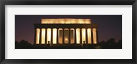 Framed Lincoln Memoria Lit Up at Night