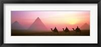 Framed Giza Pyramids Egypt