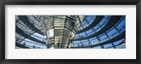 Framed Glass Dome, Reichstag, Berlin, Germany