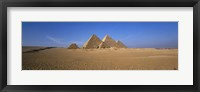 Framed Great Pyramids Giza Egypt