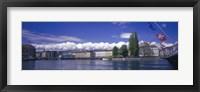Framed Rhone River Geneva Switzerland