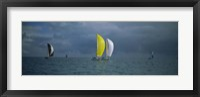 Framed Sailboat race Key West, Florida