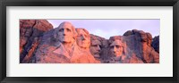 Framed Mount Rushmore, South Dakota (red hue)