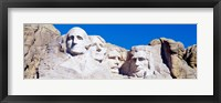 Framed Mount Rushmore, South Dakota (white)