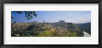 Framed Aerial View Of A City, Toledo, Spain