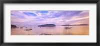 Framed Frenchman Bay, Bar Harbor, Maine, USA