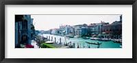 Framed Boats and Gondolas, Grand Canal, Venice, Italy