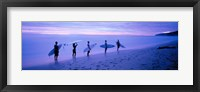 Framed Surfers on Beach Costa Rica