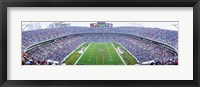 Framed NFL Football, Ericsson Stadium, Charlotte, North Carolina, USA