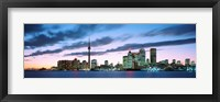 Framed Toronto Skyline from the lake, Ontario Canada