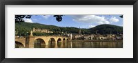Framed Bridge across a river, Heidelberg Germany