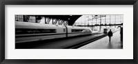 Framed Train leaving a Station, Cologne, Germany