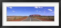 Framed Road and Ayers Rock Australia