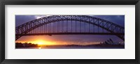 Framed Sydney Harbor Bridge, Sydney, New South Wales, United Kingdom, Australia