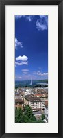 Framed Geneva Switzerland (vertical)