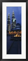 Framed Twin Towers Lit Up At Dusk, Petronas Towers, Kuala Lumpur, Malaysia