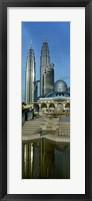 Framed Mosque and Petronas Towers Kuala Lumpur Malaysia