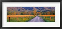 Framed Road At Sundown, Cades Cove, Great Smoky Mountains National Park, Tennessee, USA
