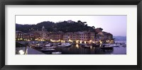 Framed Boats at a harbor, Portofino, Genoa, Liguria, Italy