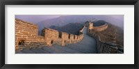 Framed High angle view of the Great Wall Of China, Mutianyu, China