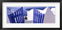 Framed Gate at the terrace of a house, Santorini, Cyclades Islands, Greece
