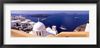 Framed View of the Caldera, Santorini, Cyclades Islands, Greece