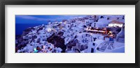 Framed Santorini at Dusk, Greece