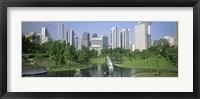 Framed Park In The City, Petronas Twin Towers, Kuala Lumpur, Malaysia
