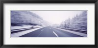 Framed Austria, Autostrada, Panoramic view of a highway