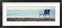 Framed Vacant Chair On The Beach, Nice, Cote De Azur, France