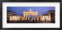 Framed Brandenburg Gate at dusk, Berlin, Germany