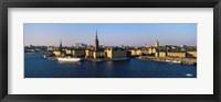 Framed Stockholm skyline, Sweden