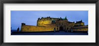 Framed Castle Lit Up At Dusk, Edinburgh Castle, Edinburgh, Scotland, United Kingdom