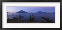 Framed Piers Over A Lake, Guatemala
