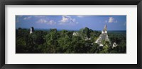 Framed High Angle View Of An Old Temple, Tikal, Guatemala