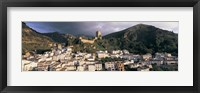 Framed Buildings on a hillside, Cazorla, Andalucia, Spain