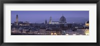 Framed High angle view of a city at dusk, Florence, Tuscany, Italy