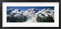 Framed Snow Covered Mountain Range and Glacier, Matterhorn, Switzerland