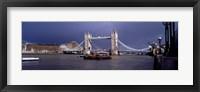 Framed Bridge Over A River, Tower Bridge, London, England, United Kingdom