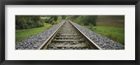 Framed Railroad track passing through a landscape, Germany