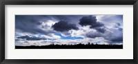 Framed Clouds over a landscape, Iceland