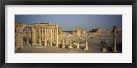 Framed Old ruins of a temple, Temple Of Bel, Palmyra, Syria