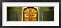 Framed Close-up of a closed door of a palace, Jaipur City Palace, Jaipur, Rajasthan, India