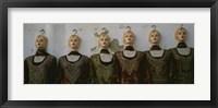 Framed Group of mannequins in a market stall, Tripoli, Libya