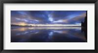 Framed Panoramic view of a river, Vuoksi River, Imatra, Finland