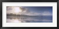Framed Panoramic view of a river at dawn, Vuoski River, Imatra, Finland