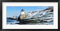 Framed Lighthouse along the sea, Castle Hill Lighthouse, Narraganset Bay, Newport, Rhode Island (horizontal)