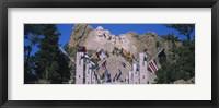Framed Statues on a mountain, Mt Rushmore, Mt Rushmore National Memorial, South Dakota, USA