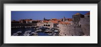 Framed High angle view of boats at a port, Old port, Dubrovnik, Croatia